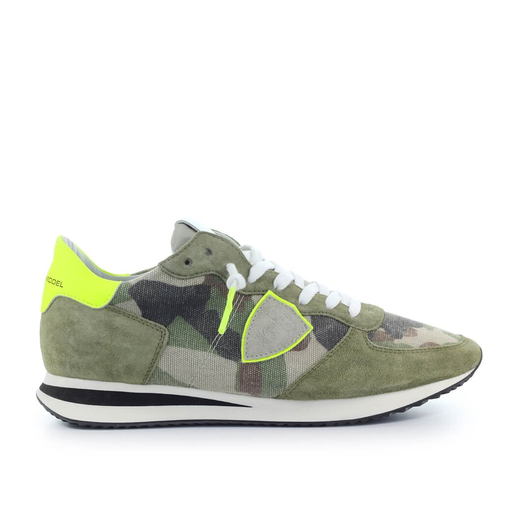 Philippe Model Canvases PHILIPPE MODEL TRPX CAMOUFLAGE YELLOW GREEN SNEAKER