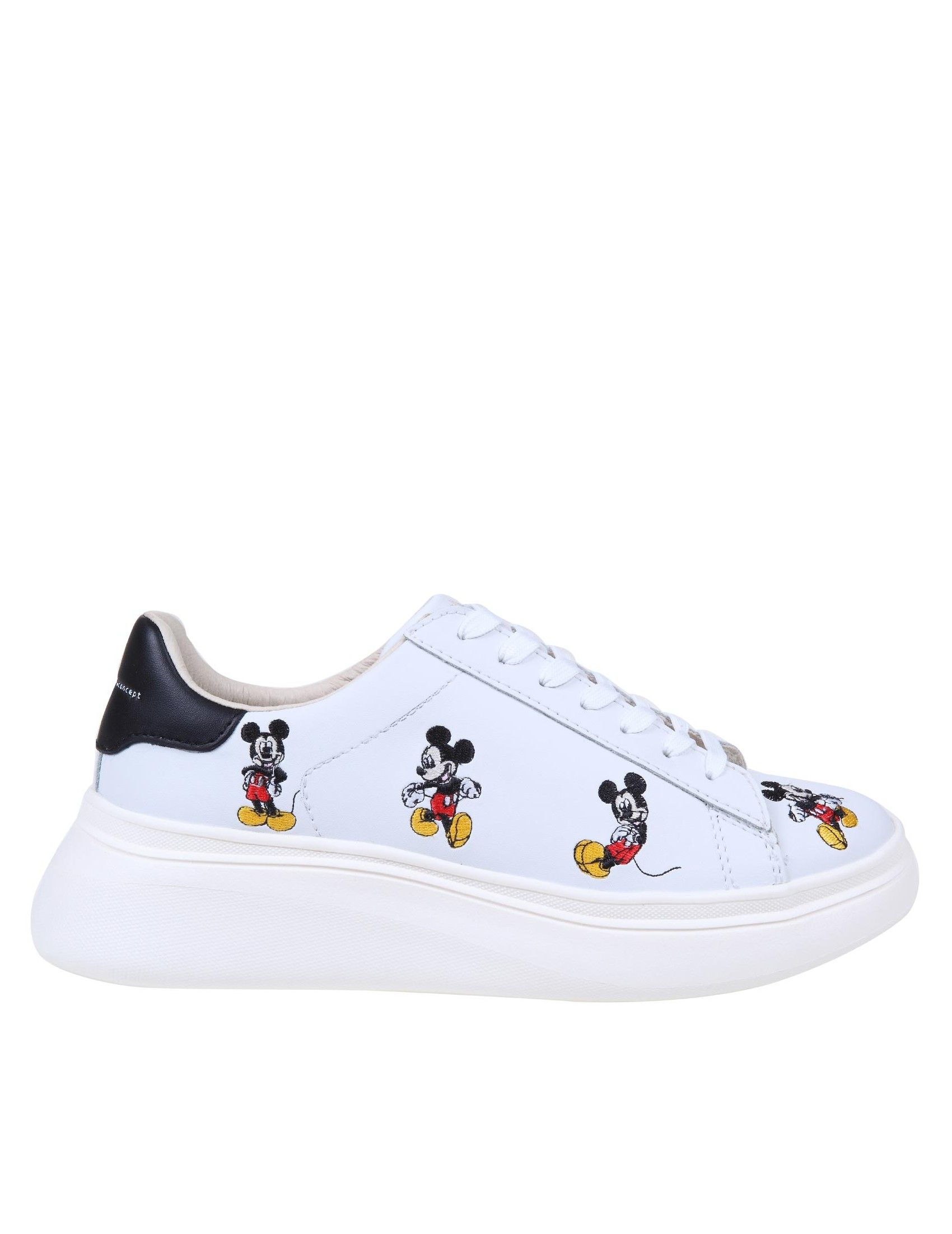 Moa Master Of Arts MOA SNEAKERS IN LEATHER WITH DISNEY EMBROIDERY