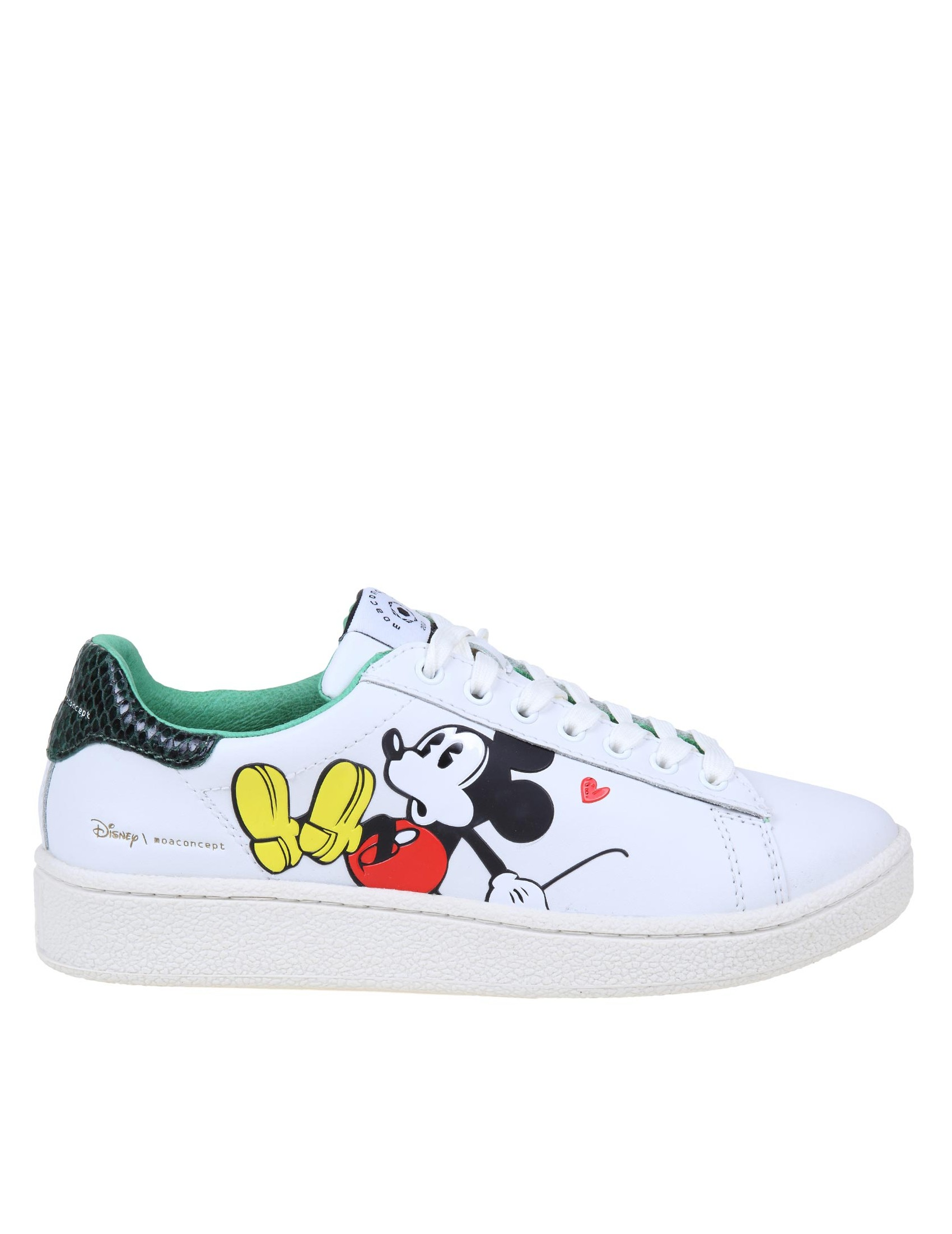 Moa Master Of Arts MOA SNEAKERS IN LEATHER WITH DISNEY PRINT