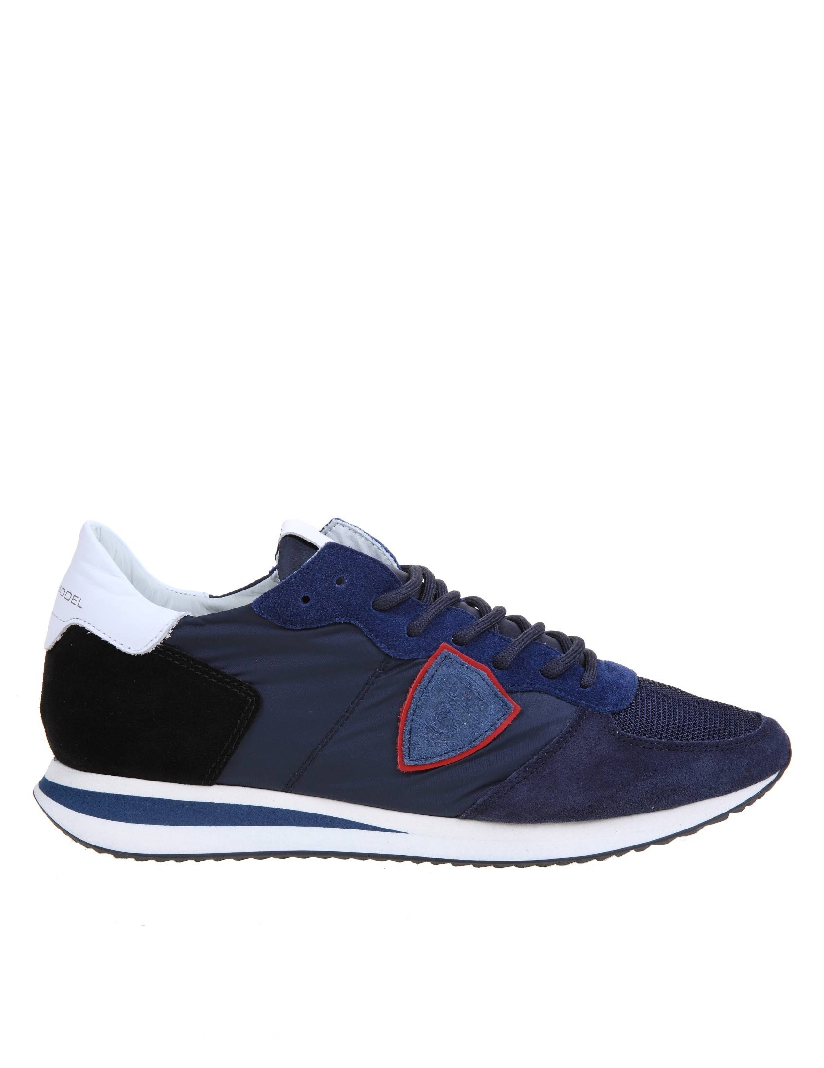 Philippe Model Suedes PHILIPPE MODEL TRPX SNEAKERS IN SUEDE AND NYLON