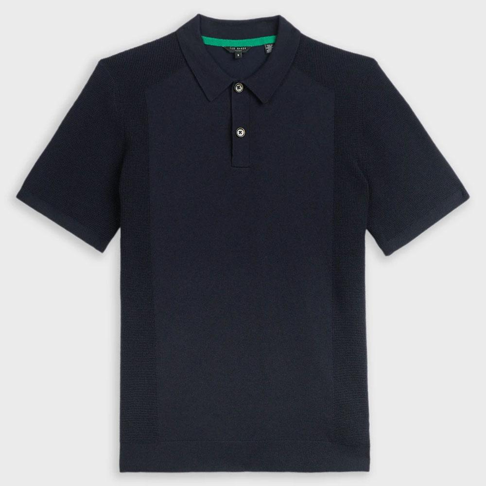 Ted Baker Shirts TED BAKER BUMP POLO SHIRT, COLOUR: NAVY