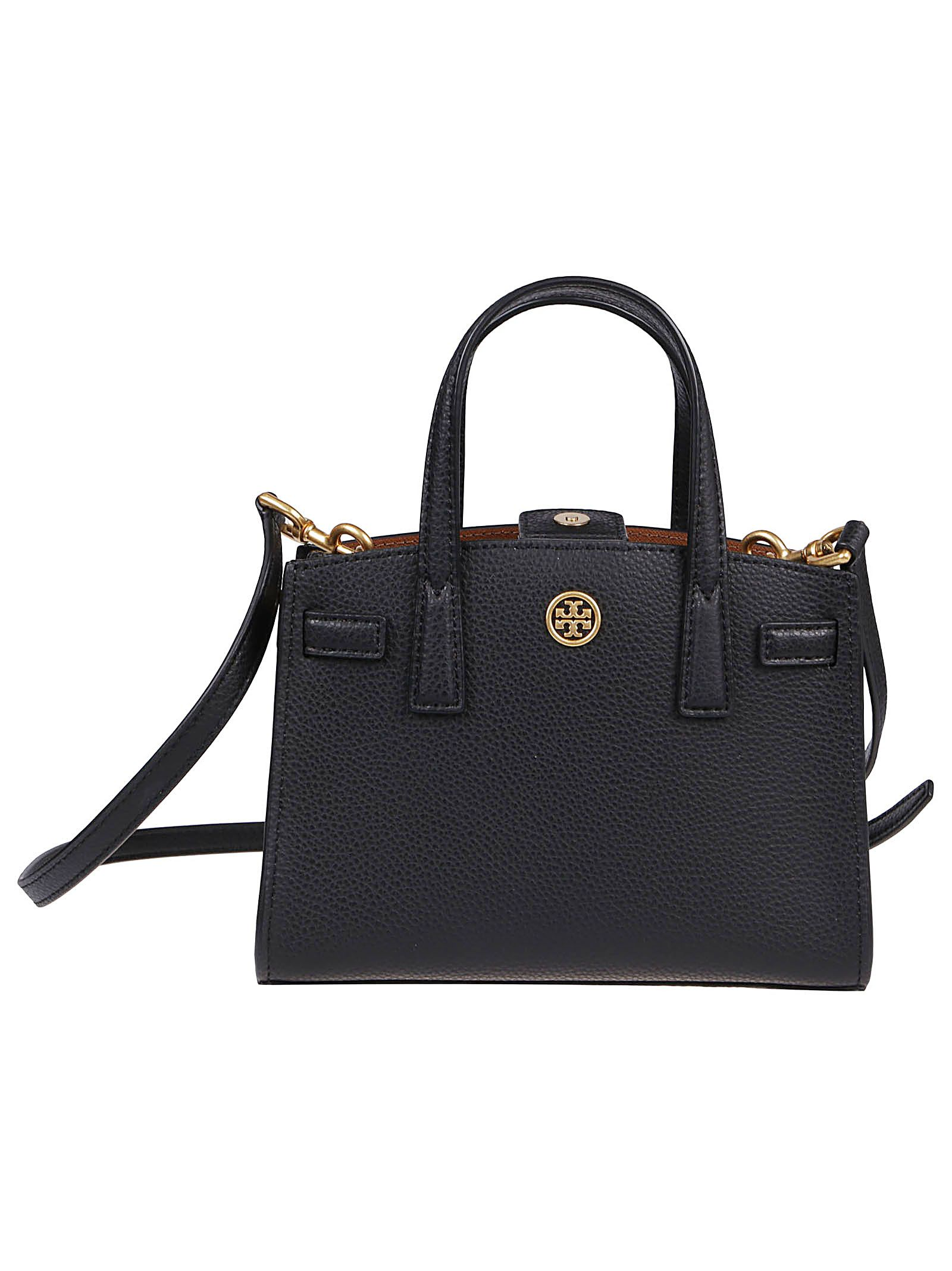 Tory Burch Leathers TORY BURCH WOMEN'S 79405001 BLACK OTHER MATERIALS TOTE