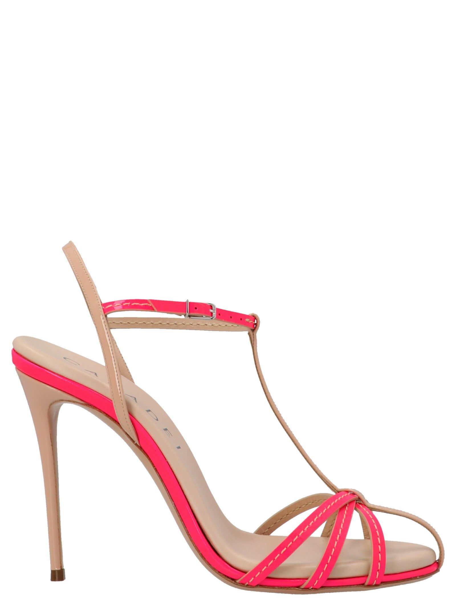 Casadei Leathers CASADEI WOMEN'S 1L752S1001T0253A786 FUCHSIA OTHER MATERIALS SANDALS
