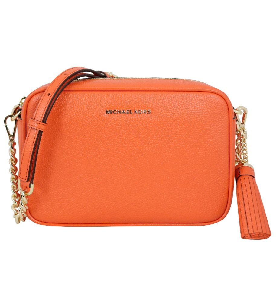 Michael Kors MICHAEL KORS WOMEN'S 32F7GGNM8L846 ORANGE LEATHER SHOULDER BAG