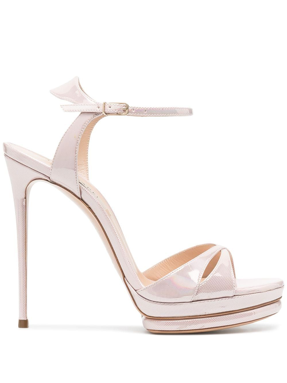 Casadei Leathers CASADEI WOMEN'S 1L763S1201INCAL3301 PINK LEATHER SANDALS