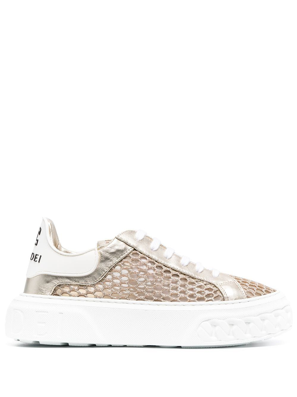 Casadei Leathers CASADEI WOMEN'S 2X846S0201T0275A665 GOLD LEATHER SNEAKERS
