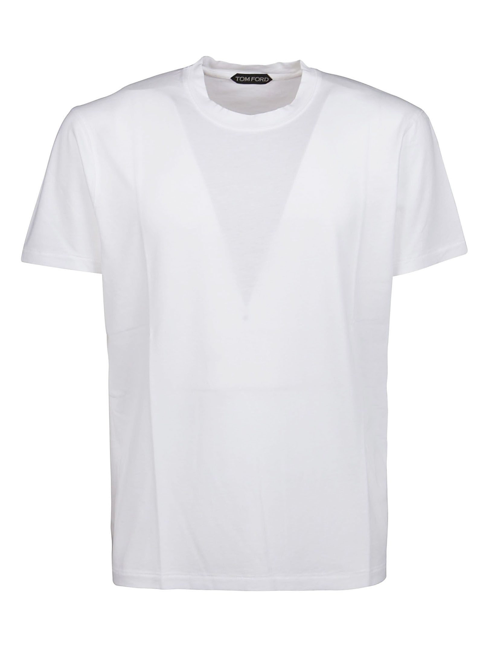 Tom Ford Cottons TOM FORD MEN'S TFJ950BW229N01 WHITE OTHER MATERIALS T-SHIRT