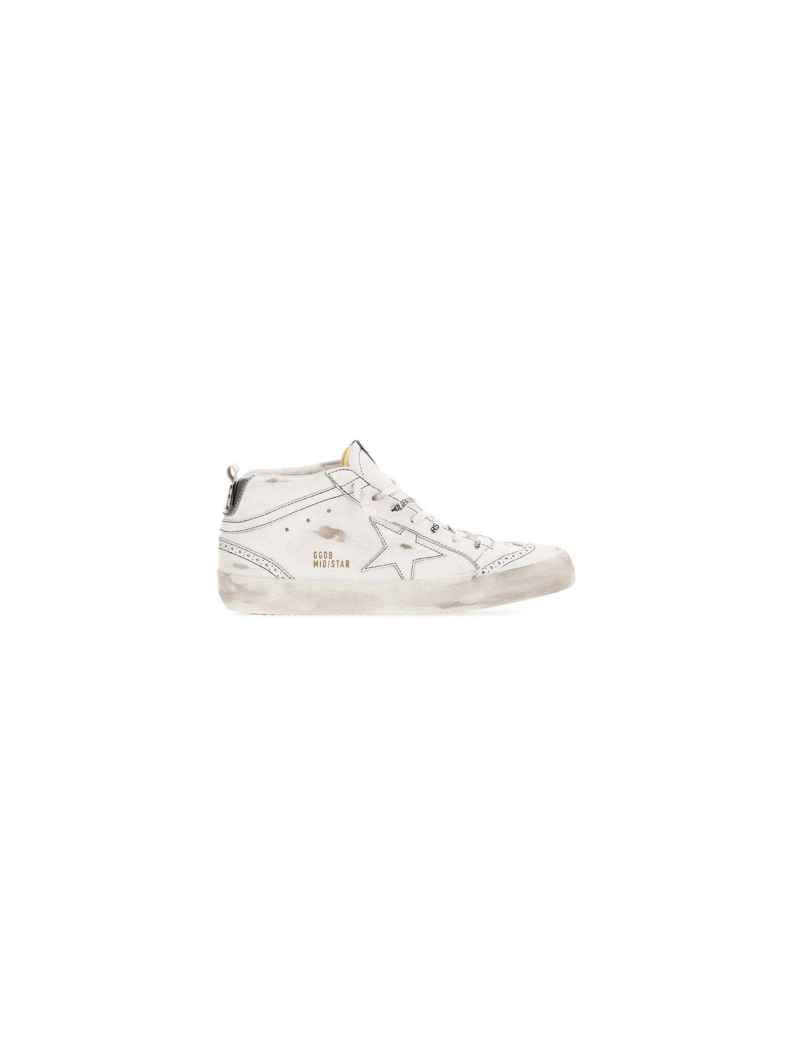 Golden Goose Leathers GOLDEN GOOSE MEN'S GMF00122F00124910449 WHITE OTHER MATERIALS SNEAKERS
