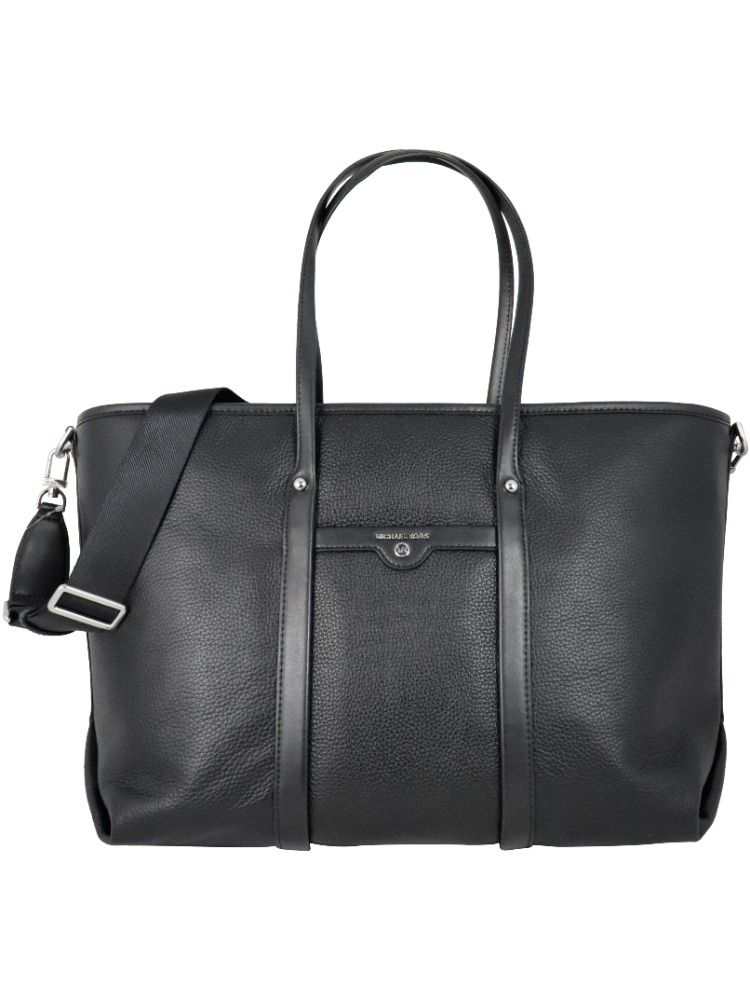 Michael Kors MICHAEL KORS WOMEN'S 30H0SKNT3L001 BLACK LEATHER TOTE