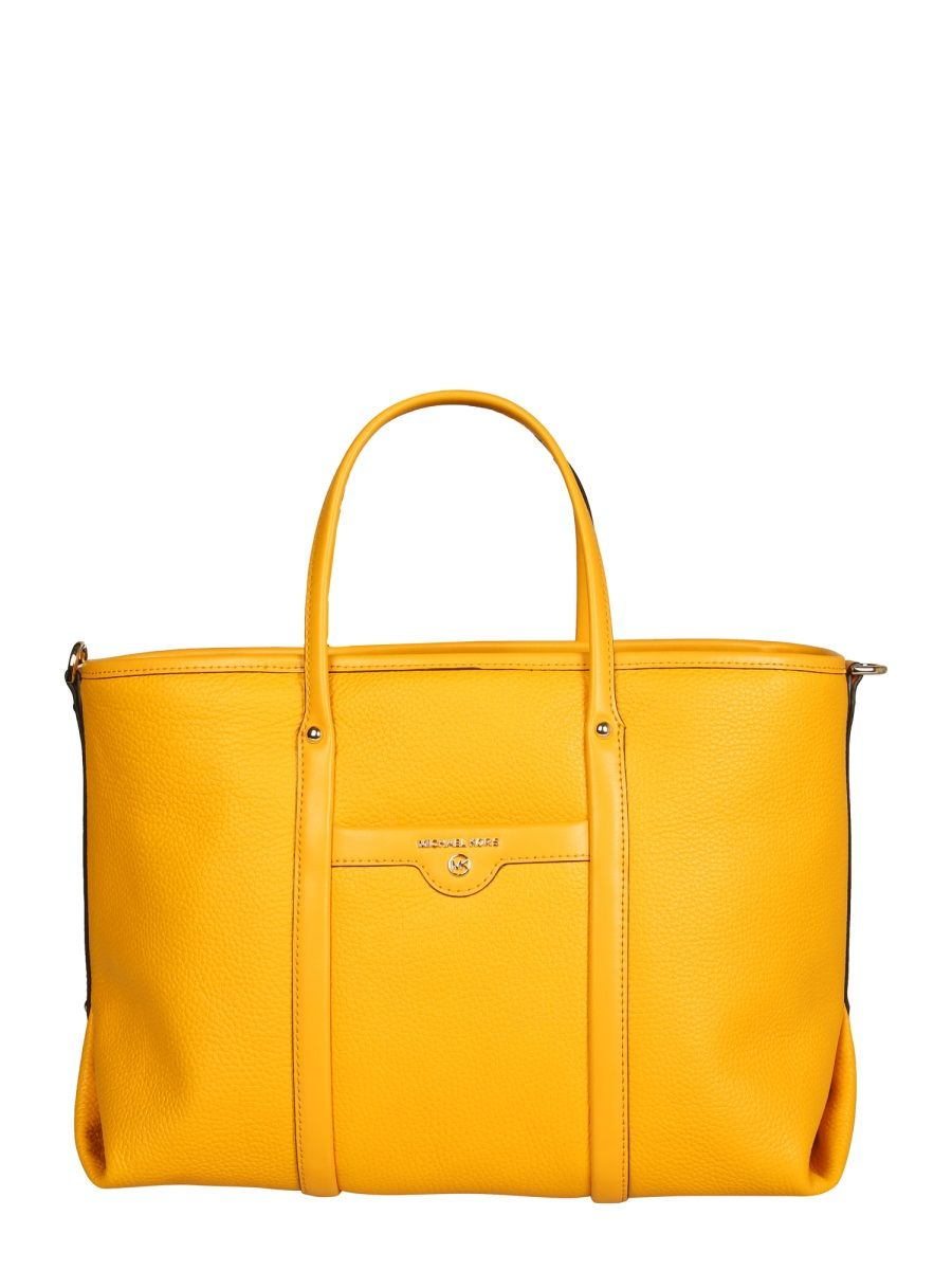 Michael Kors MICHAEL KORS WOMEN'S 30H0GKNT2L746 YELLOW LEATHER TOTE