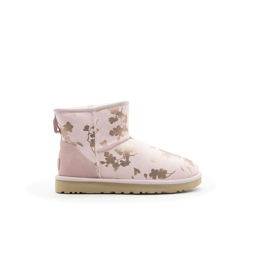 Ugg UGG WOMEN'S 1118163 PINK SUEDE ANKLE BOOTS