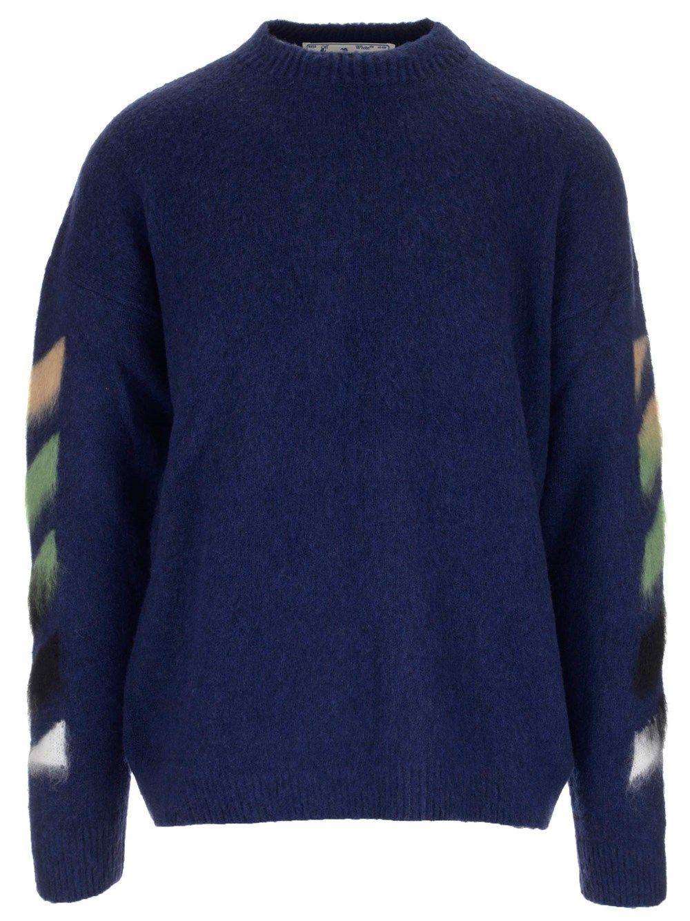 Off-White OFF-WHITE MEN'S OMHA036R21KNI0014984 BLUE OTHER MATERIALS SWEATER