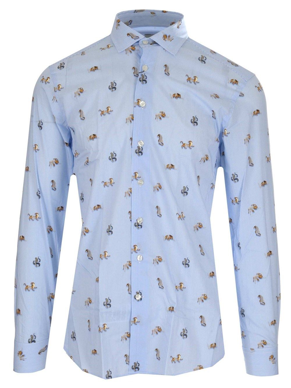 Etro Cottons ETRO MEN'S 129086250250 LIGHT BLUE OTHER MATERIALS SHIRT