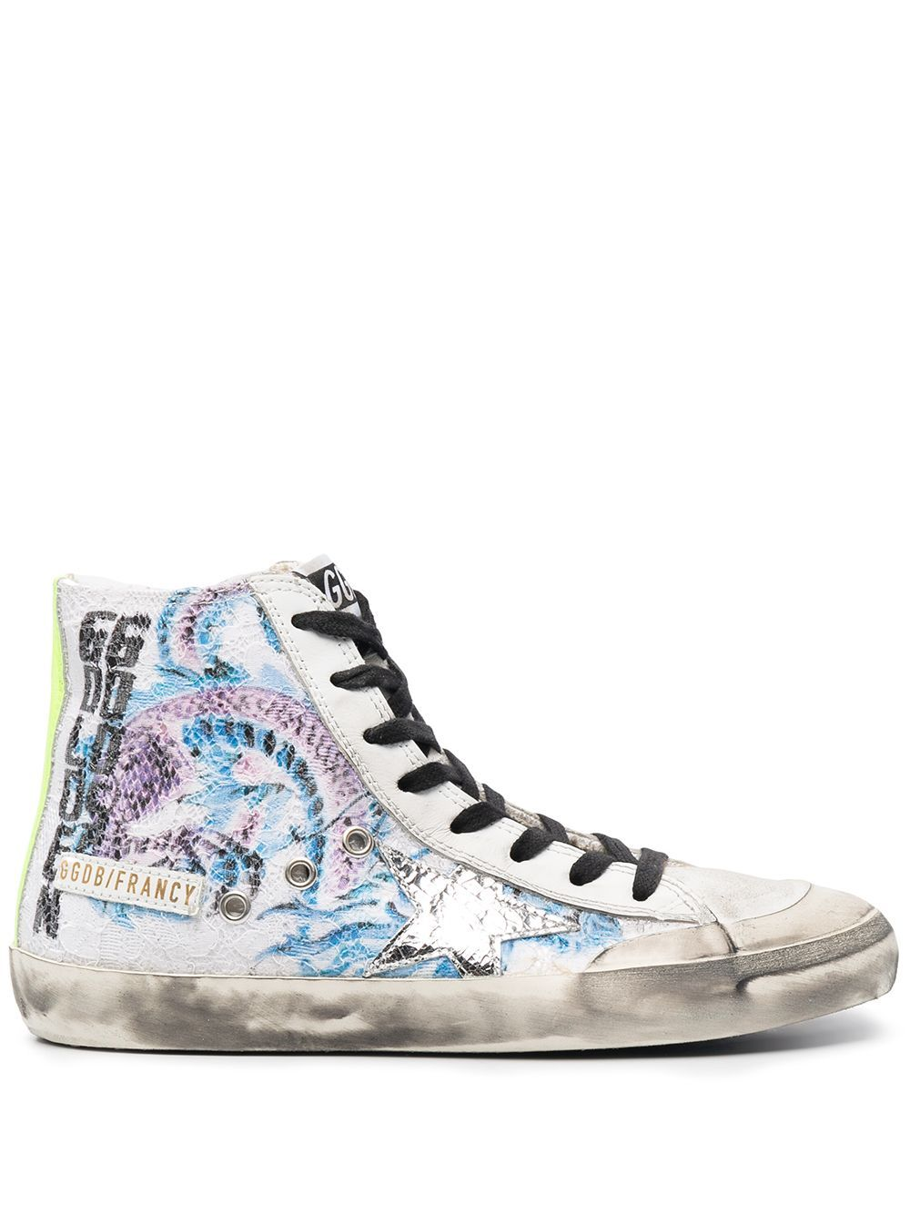 Golden Goose Leathers GOLDEN GOOSE WOMEN'S GWF00114F00026880271 WHITE LEATHER HI TOP SNEAKERS