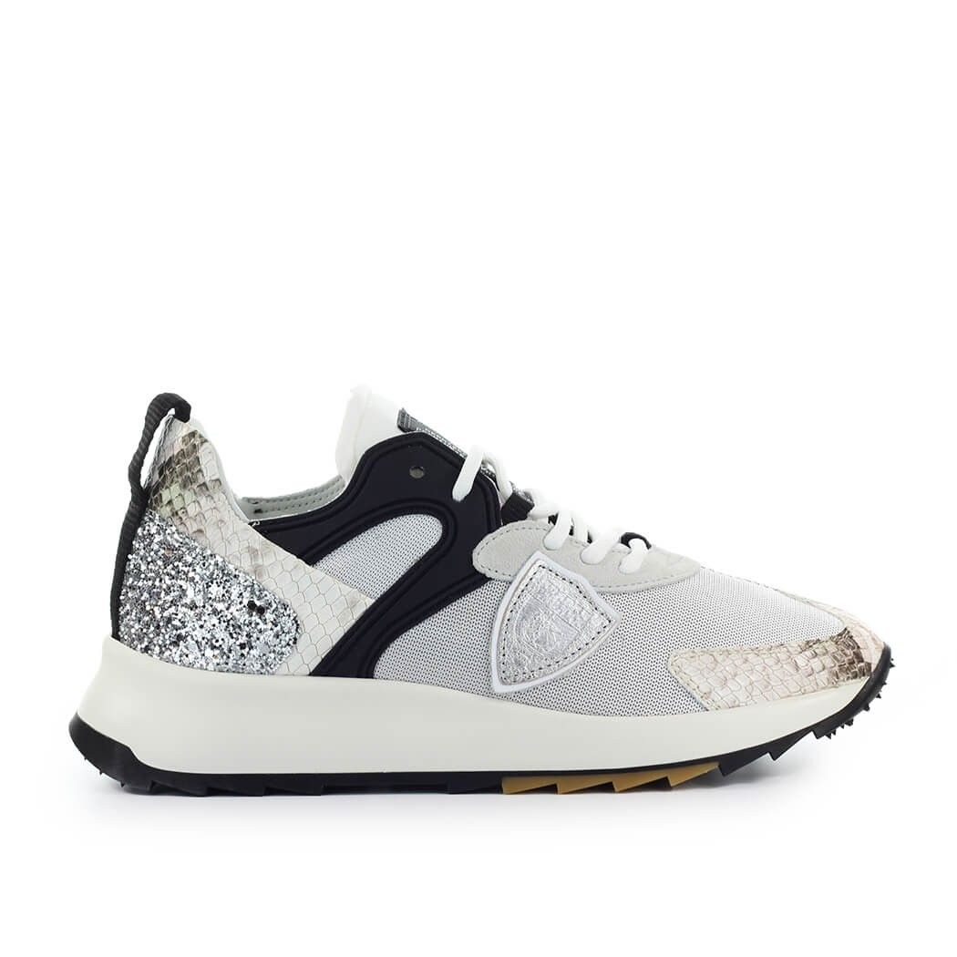 Philippe Model Suedes PHILIPPE MODEL WOMEN'S RLLDPY02 SILVER POLYAMIDE SNEAKERS