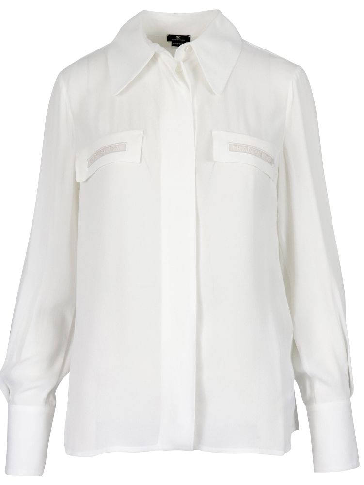 Elisabetta Franchi Shirts ELISABETTA FRANCHI WOMEN'S CA28111E2360 WHITE OTHER MATERIALS SHIRT