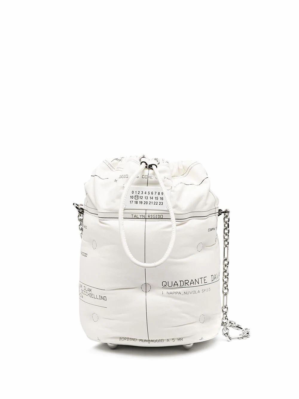 Maison Margiela MAISON MARGIELA WOMEN'S S56WG0111PS123T1003 WHITE LEATHER SHOULDER BAG