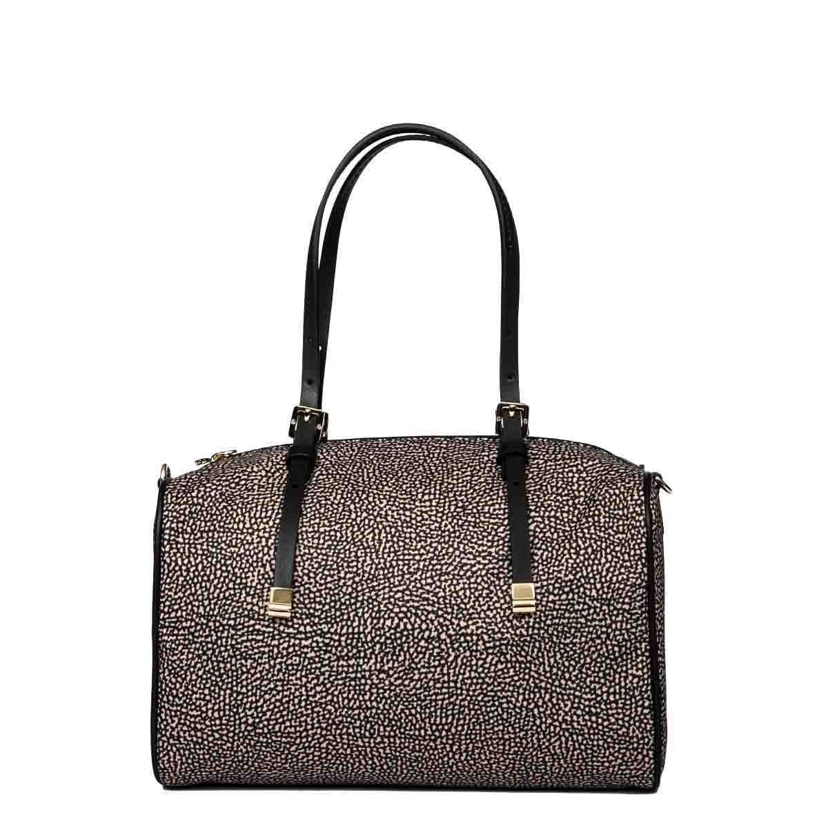 Borbonese Handbags BORBONESE WOMEN'S 934062I15X11 BROWN POLYESTER HANDBAG
