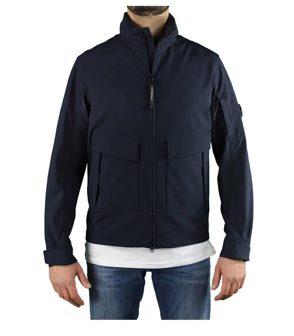 C.p. Company Jackets CP COMPANY MEN'S 10CMOW020A005968A888 BLUE POLYAMIDE OUTERWEAR JACKET
