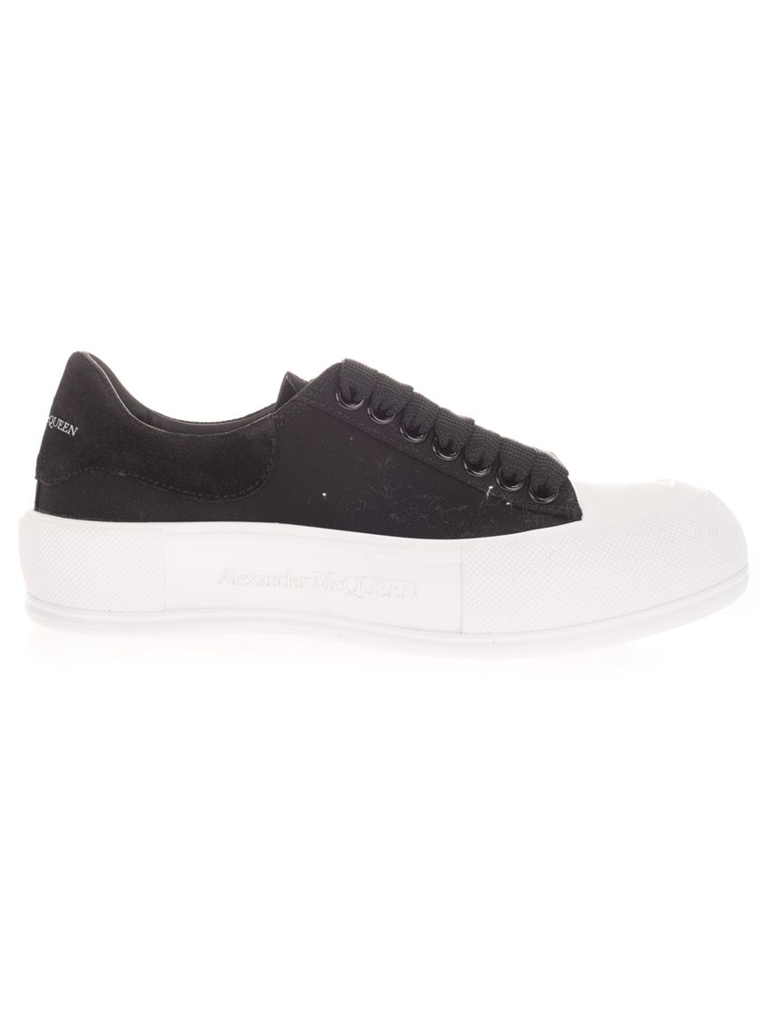 Alexander Mcqueen Sneakers ALEXANDER MCQUEEN WOMEN'S 654593W4PQ11070 BLACK OTHER MATERIALS SNEAKERS