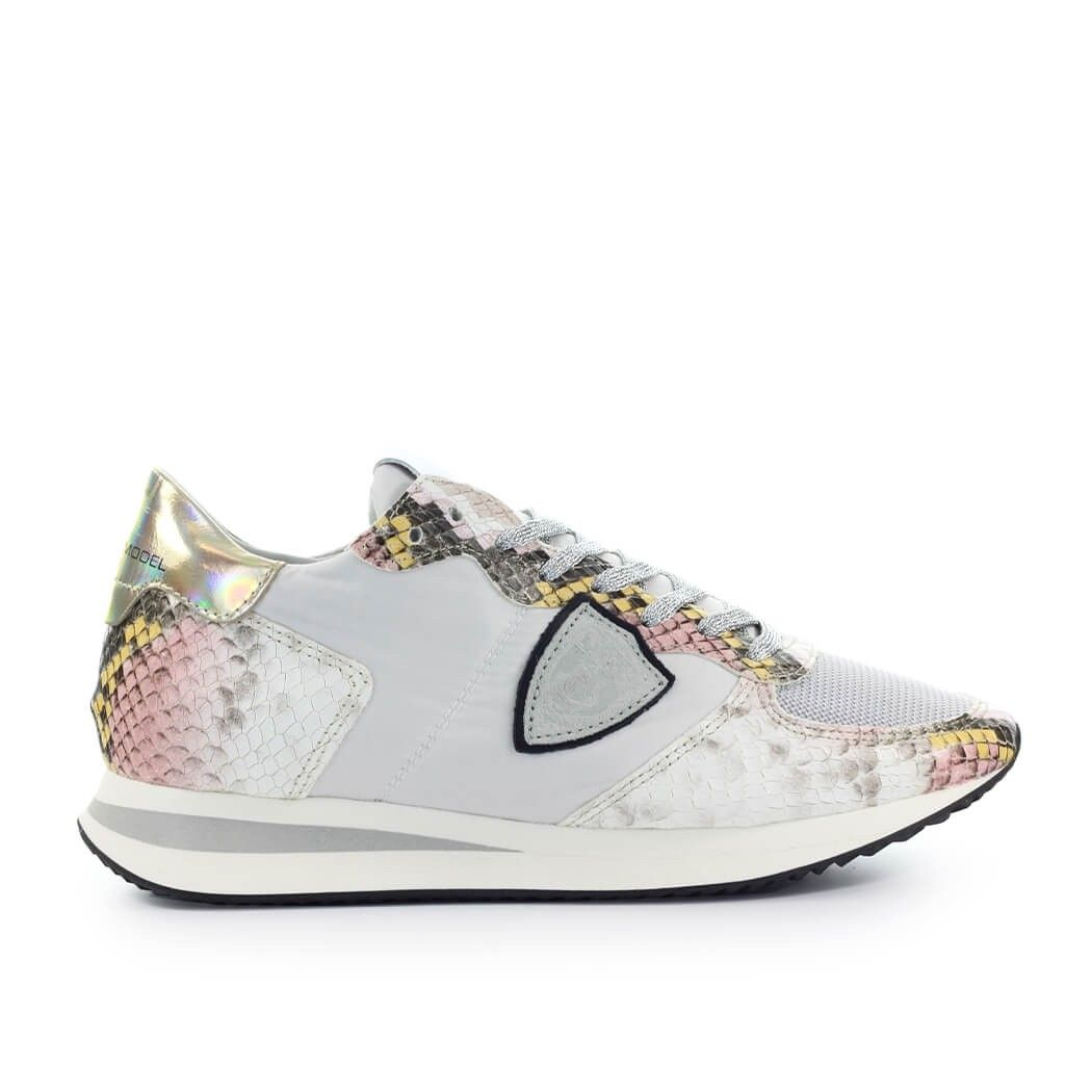 Philippe Model Leathers PHILIPPE MODEL WOMEN'S TZLDAL01 WHITE LEATHER SNEAKERS