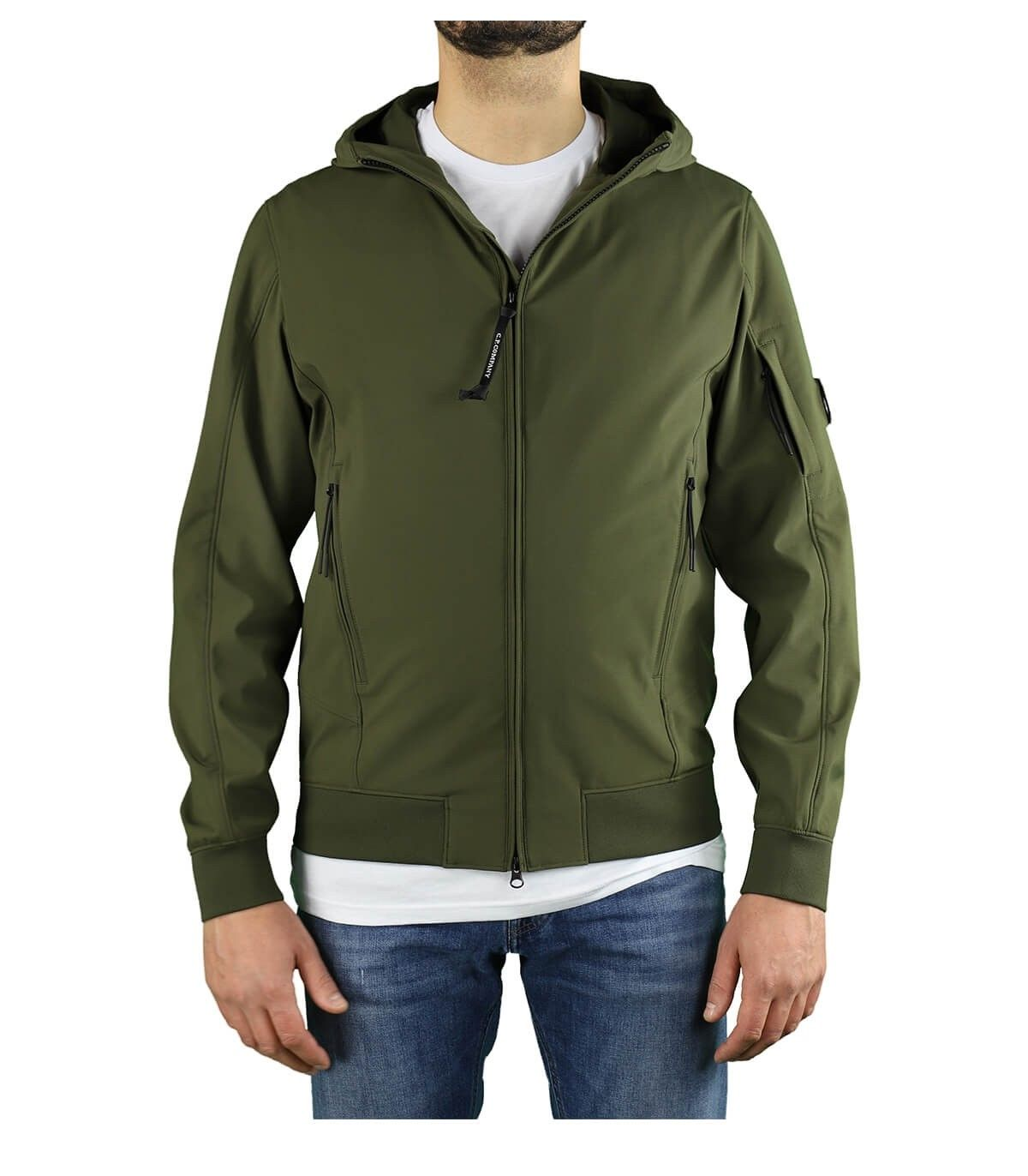 C.p. Company Jackets CP COMPANY MEN'S 10CMOW014A005968A683 GREEN POLYAMIDE OUTERWEAR JACKET