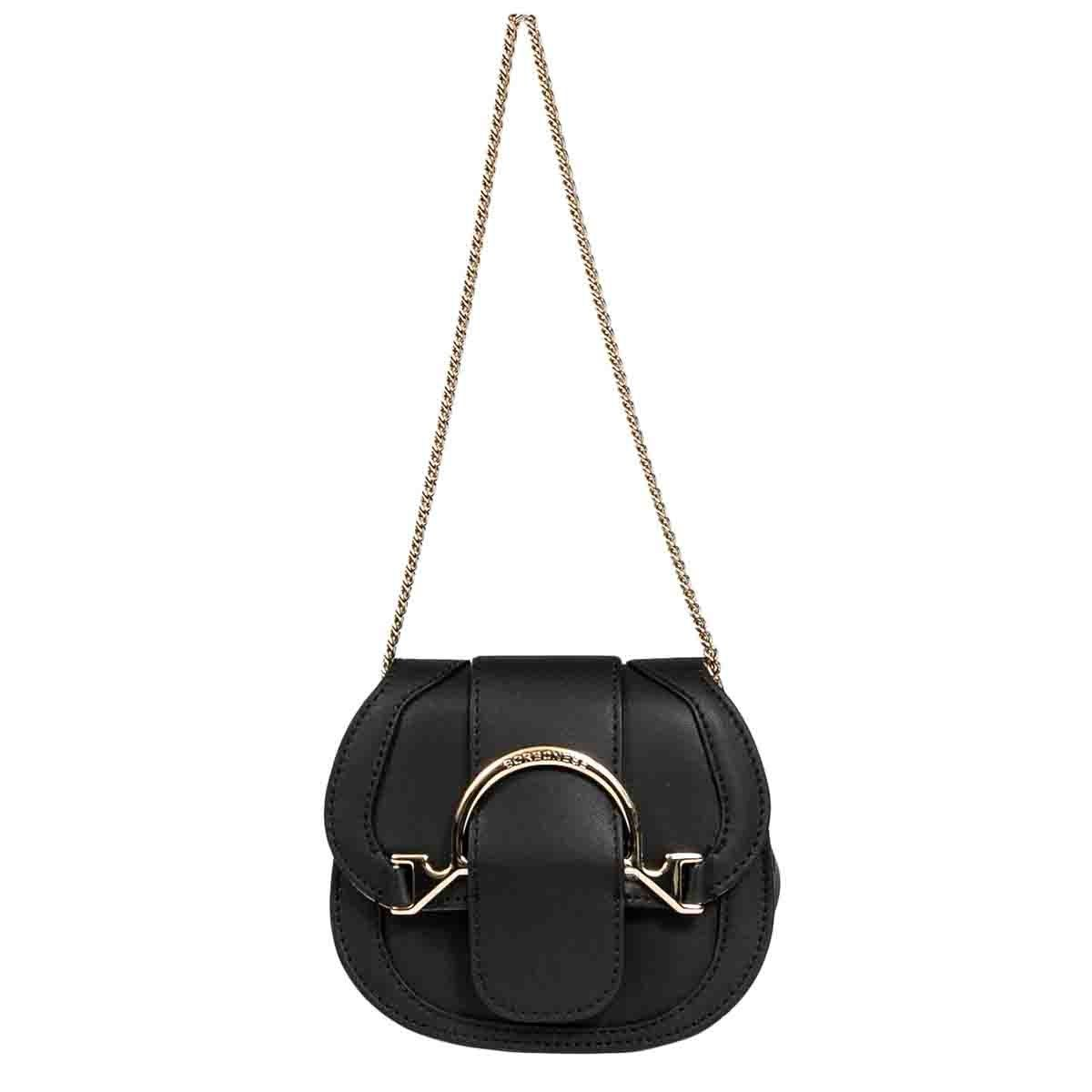 Borbonese BORBONESE WOMEN'S 923439I42100 BLACK LEATHER SHOULDER BAG