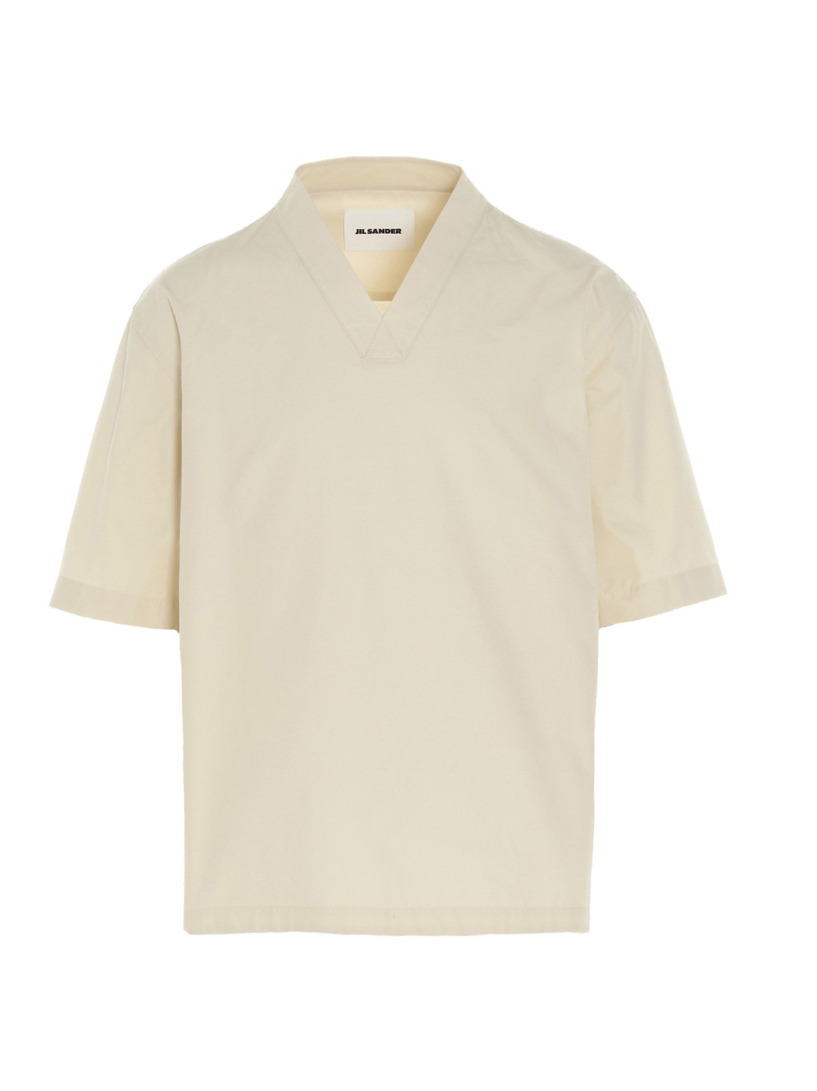 Jil Sander Cottons JIL SANDER MEN'S JSMS420631MS244200B687 BEIGE OTHER MATERIALS SHIRT