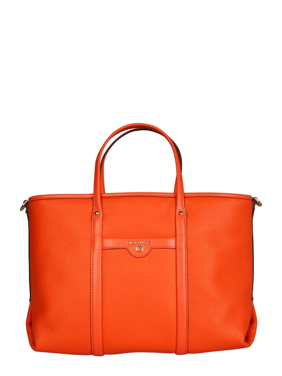 Michael Kors MICHAEL KORS WOMEN'S 30H0GKNT2L846 ORANGE LEATHER TOTE