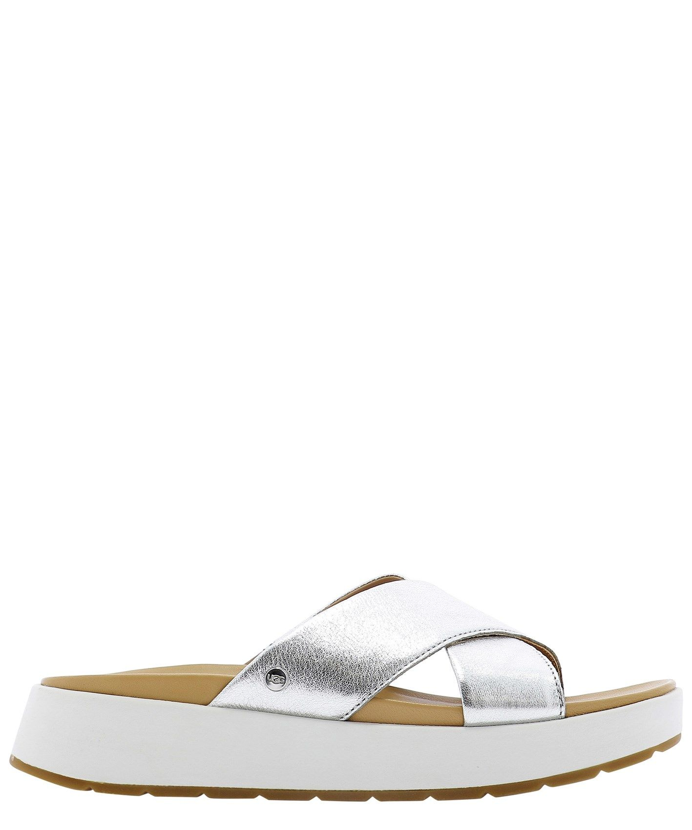 Ugg UGG WOMEN'S 1119743WSILVER SILVER OTHER MATERIALS SANDALS