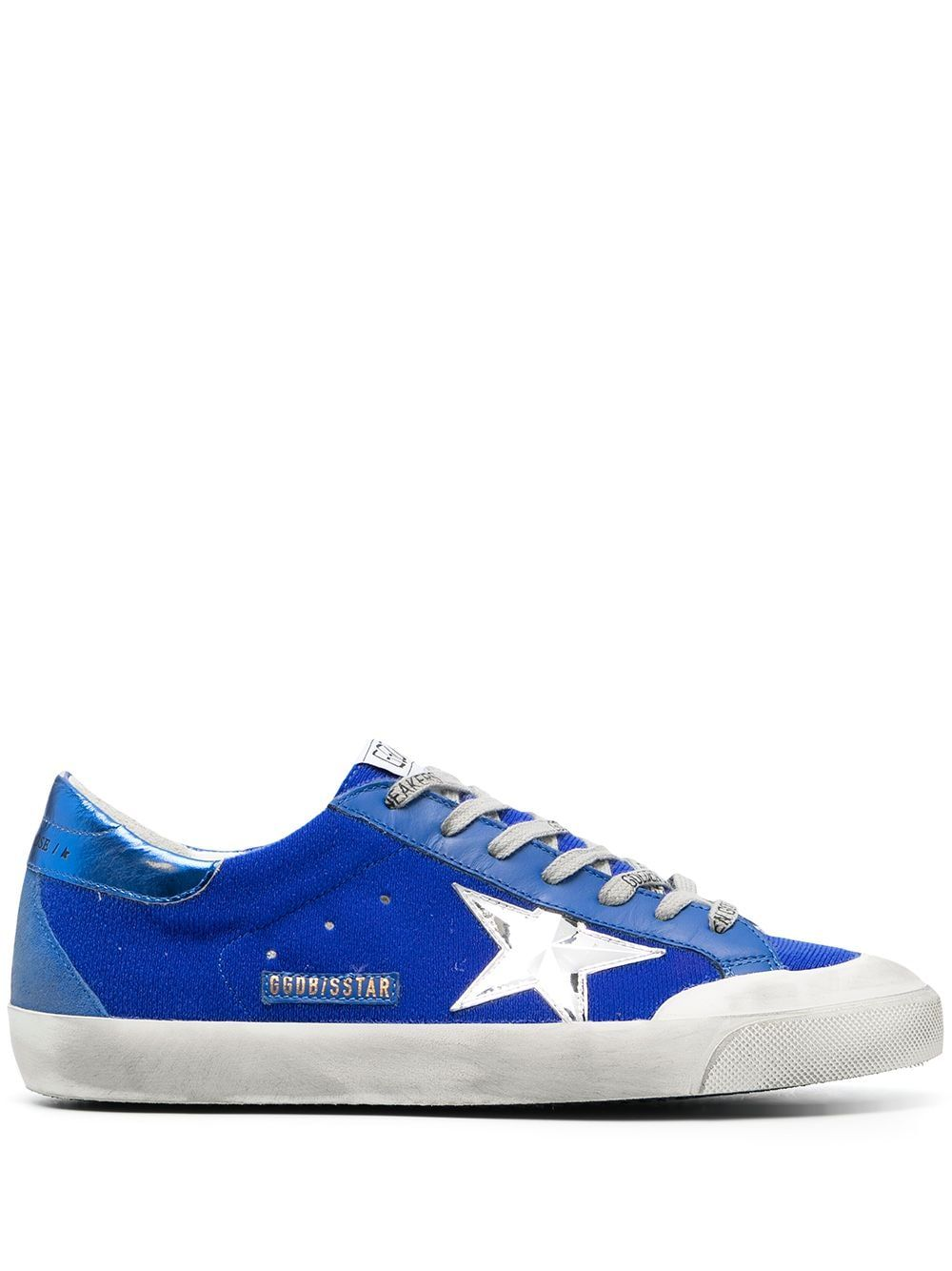 Golden Goose Leathers GOLDEN GOOSE MEN'S GMF00175F00125750595 BLUE LEATHER SNEAKERS