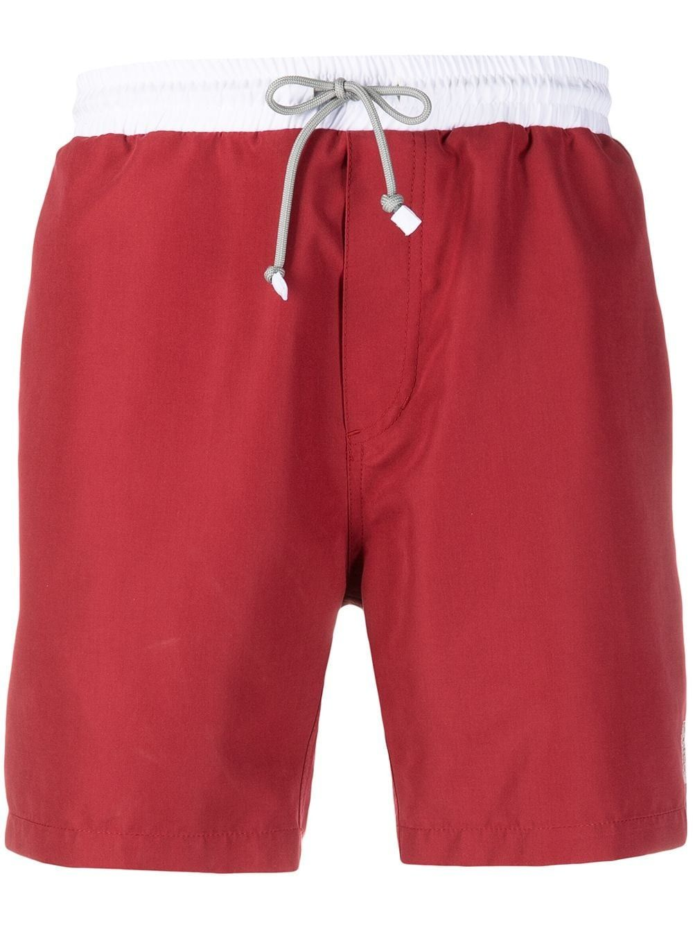Brunello Cucinelli Clothing BRUNELLO CUCINELLI MEN'S MQ828038CT387 RED POLYESTER TRUNKS
