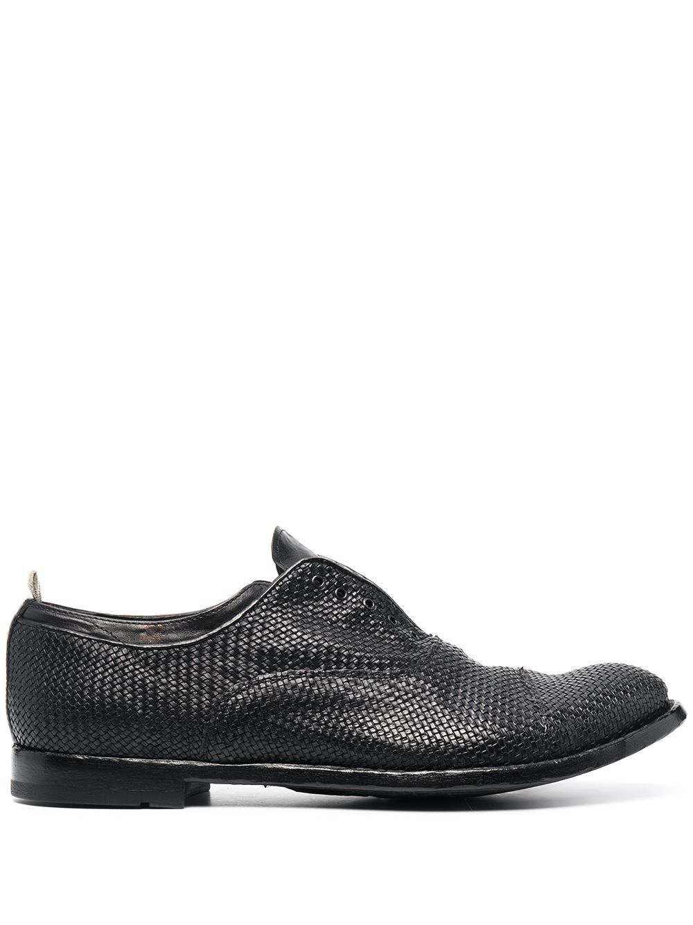 Officine Creative Leathers OFFICINE CREATIVE MEN'S OCANATO043CANG2D153 GREY LEATHER LACE-UP SHOES