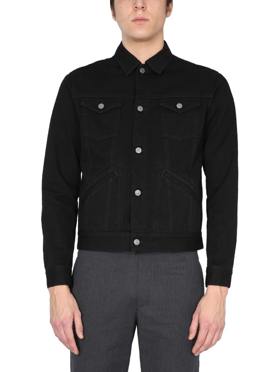 Givenchy GIVENCHY MEN'S BM00PR50KK001 BLACK OTHER MATERIALS JACKET