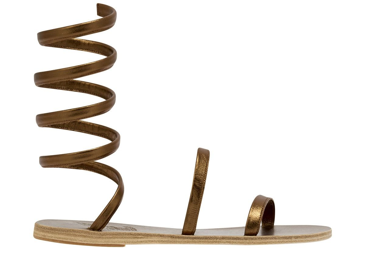 Ancient Greek Sandals ANCIENT GREEK SANDALS WOMEN'S OFISBRONZE BROWN LEATHER SANDALS