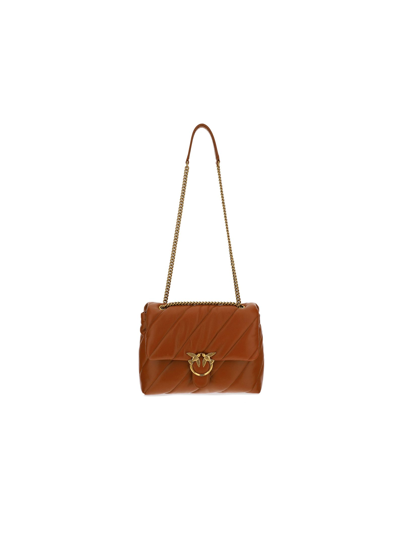 Pinko Leathers PINKO WOMEN'S 1P222VY6Y3L58 BROWN OTHER MATERIALS SHOULDER BAG