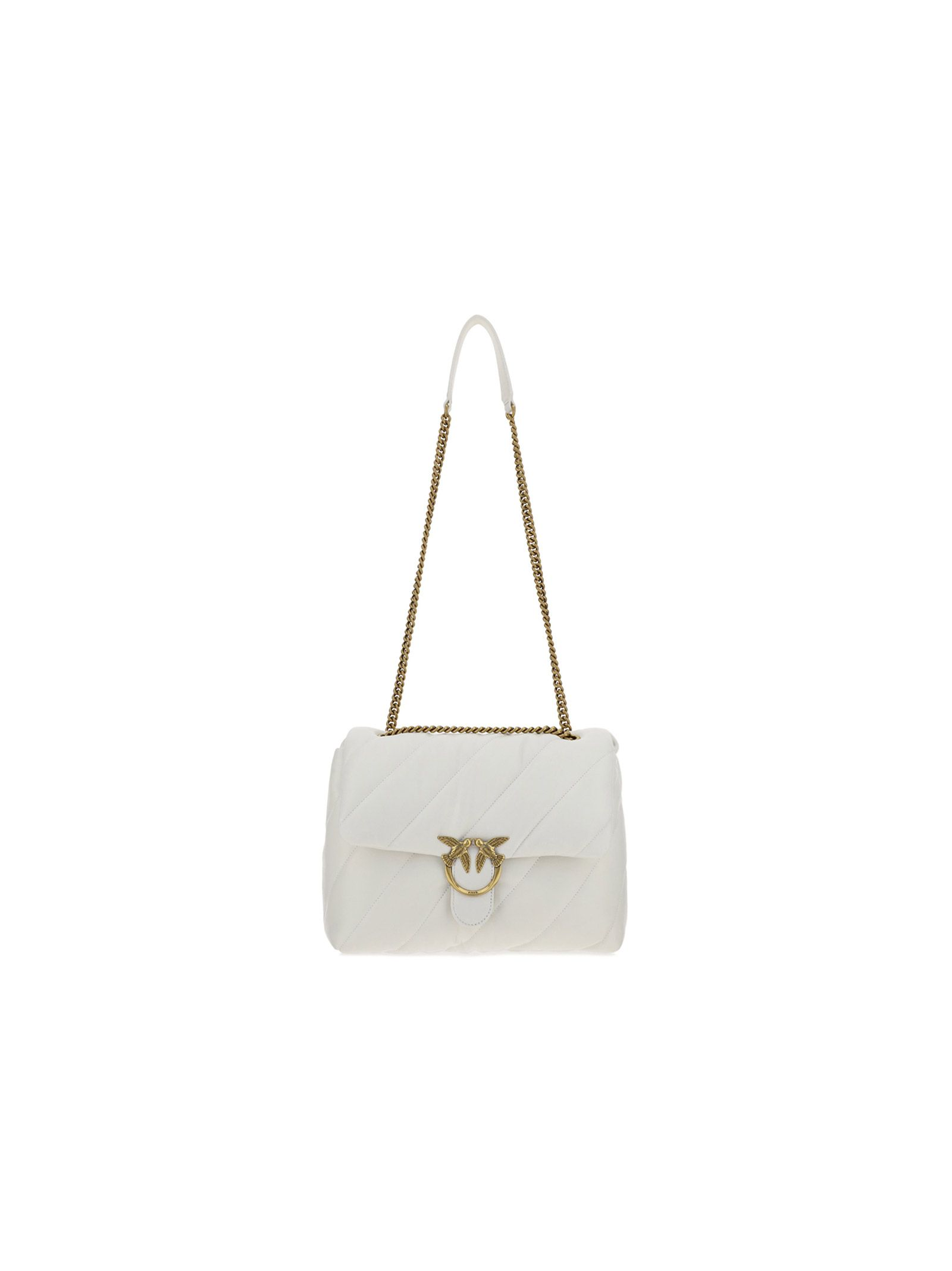 Pinko PINKO WOMEN'S 1P222VY6Y3Z14 WHITE OTHER MATERIALS SHOULDER BAG