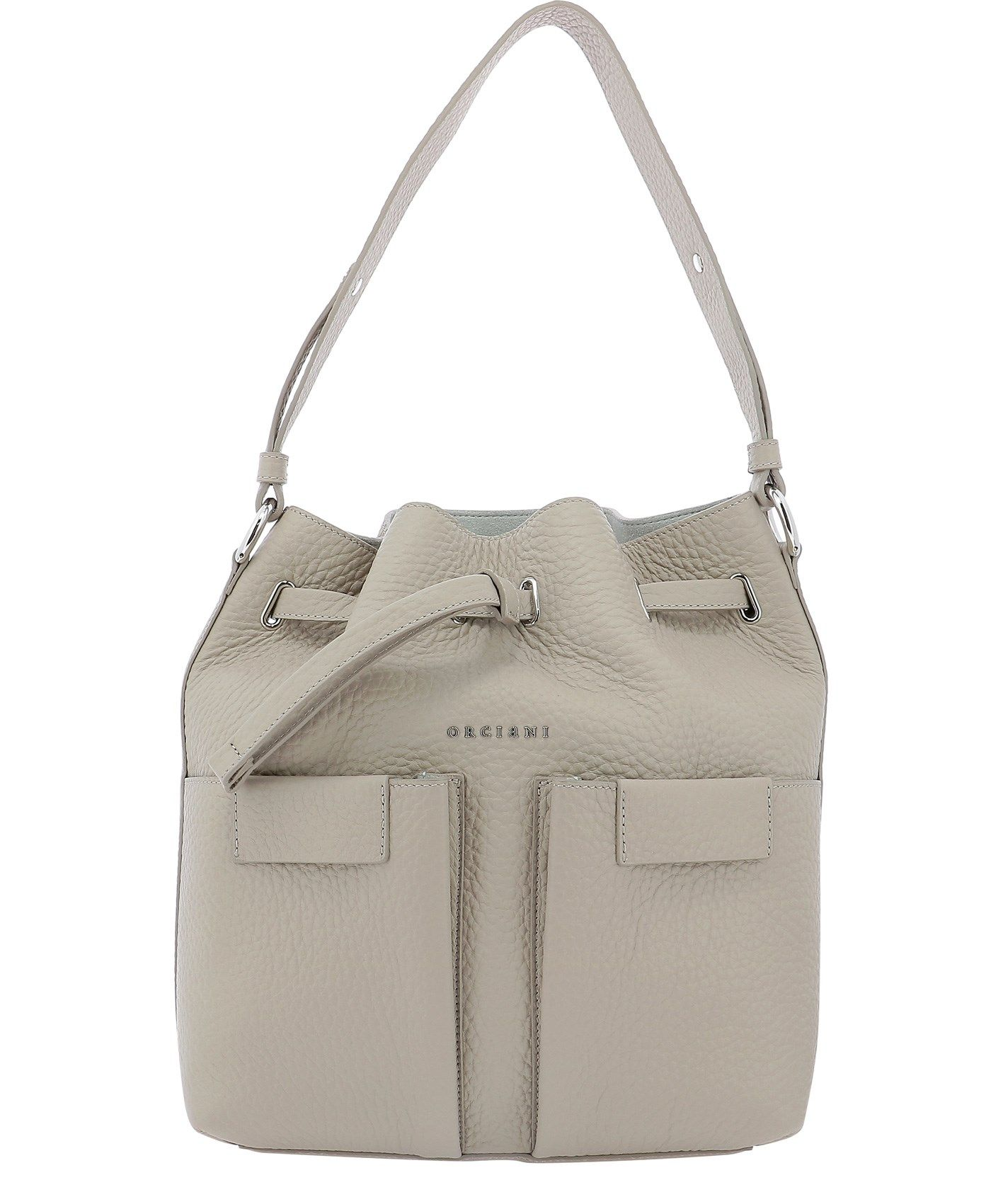 Orciani Leathers ORCIANI WOMEN'S B02092SOFTCONCHIGLIA BEIGE OTHER MATERIALS SHOULDER BAG