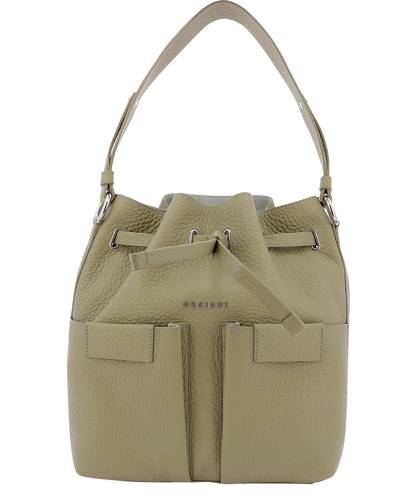 Orciani Leathers ORCIANI WOMEN'S B02092SOFTKAKI GREEN OTHER MATERIALS SHOULDER BAG
