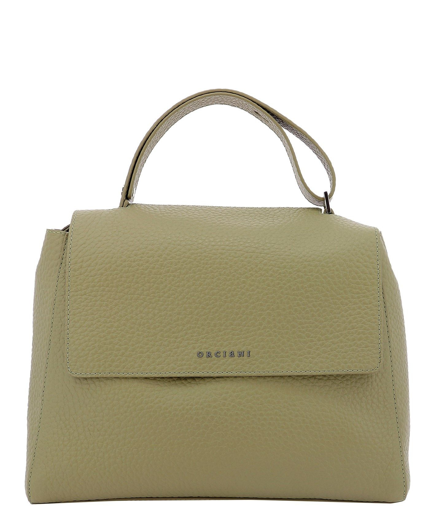 Orciani Leathers ORCIANI WOMEN'S BT2006SOFTKAKI GREEN OTHER MATERIALS SHOULDER BAG