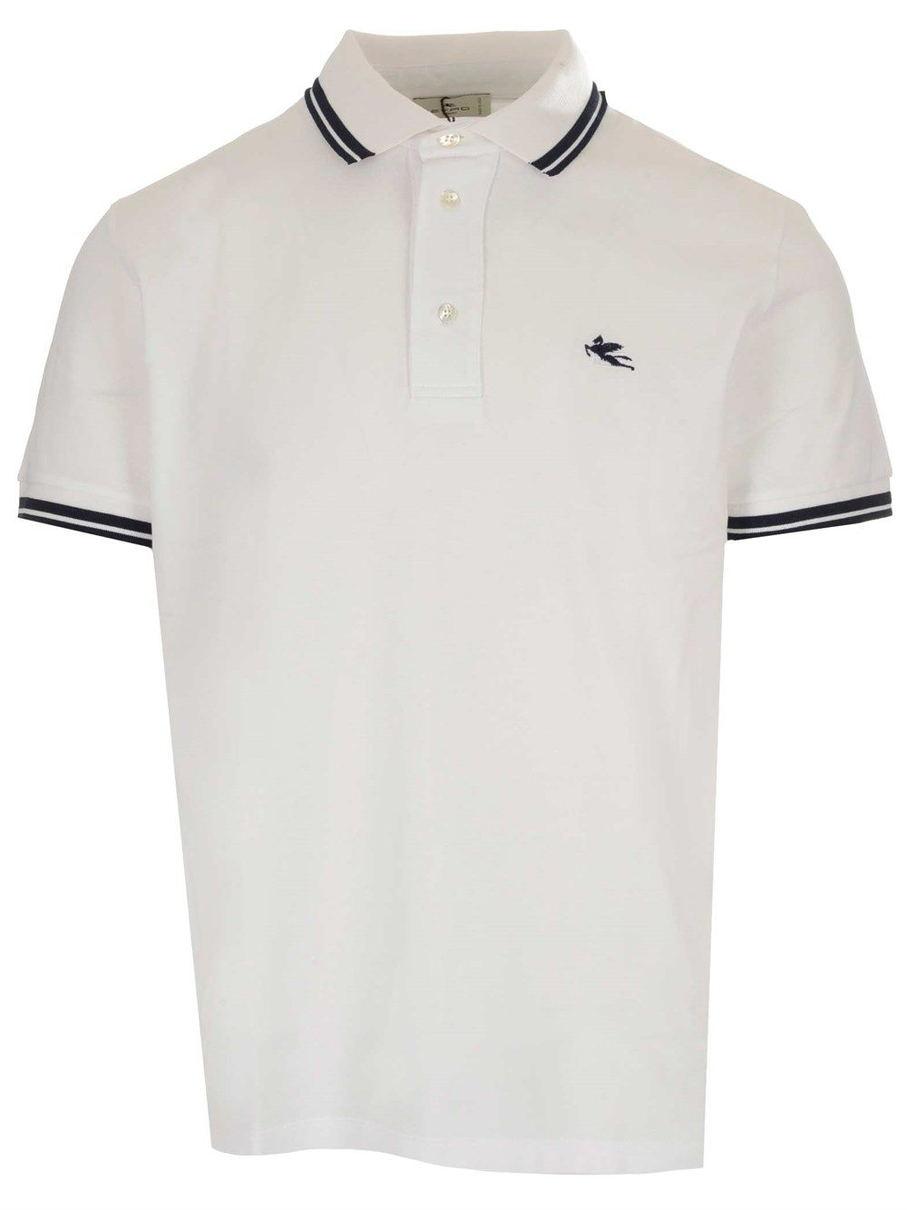 Etro Cottons ETRO MEN'S 1Y8009982991 WHITE OTHER MATERIALS POLO SHIRT