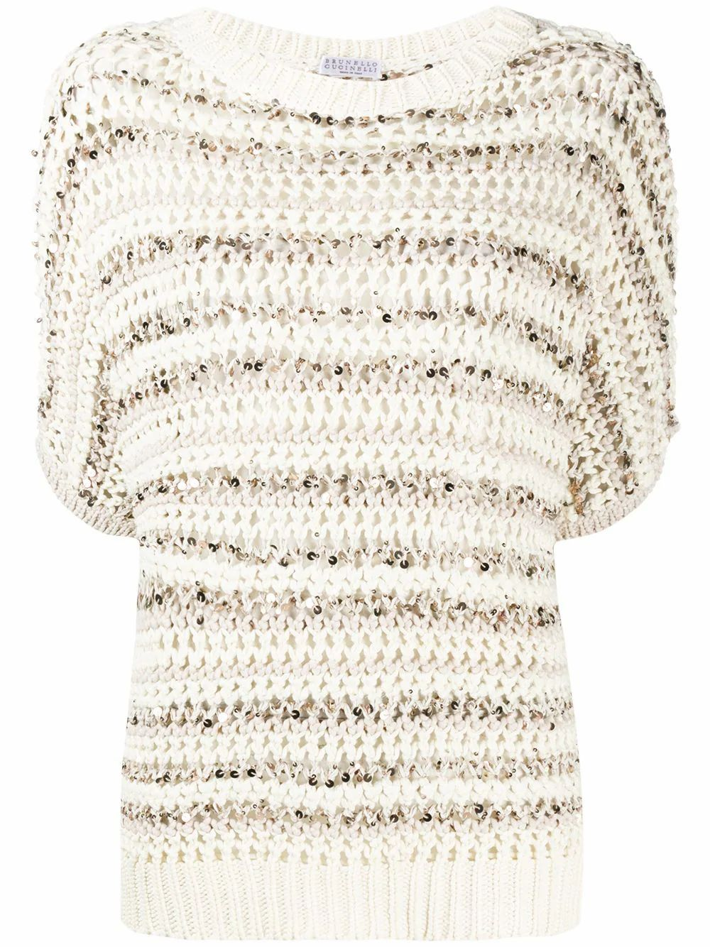 Brunello Cucinelli BRUNELLO CUCINELLI WOMEN'S MAF330200CA416 BEIGE COTTON JUMPER