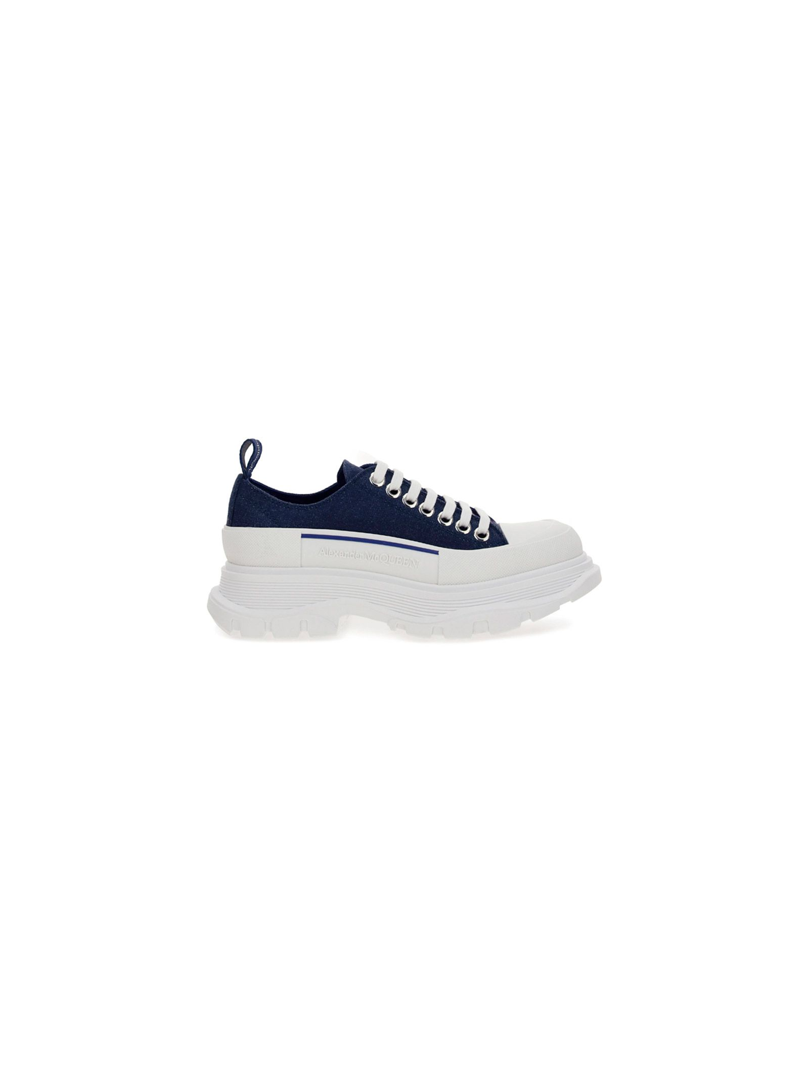 Alexander Mcqueen ALEXANDER MCQUEEN WOMEN'S 611705W4PD14177 BLUE OTHER MATERIALS SNEAKERS