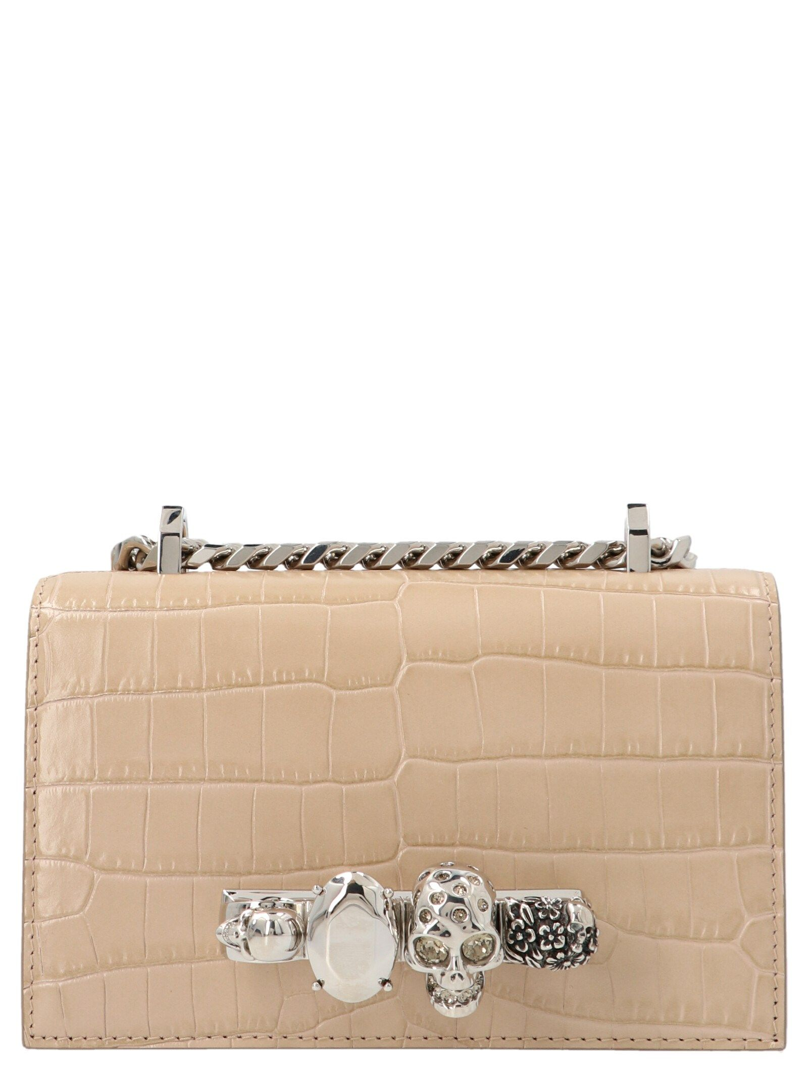 Alexander Mcqueen ALEXANDER MCQUEEN WOMEN'S 6531341HB012611 BEIGE OTHER MATERIALS SHOULDER BAG