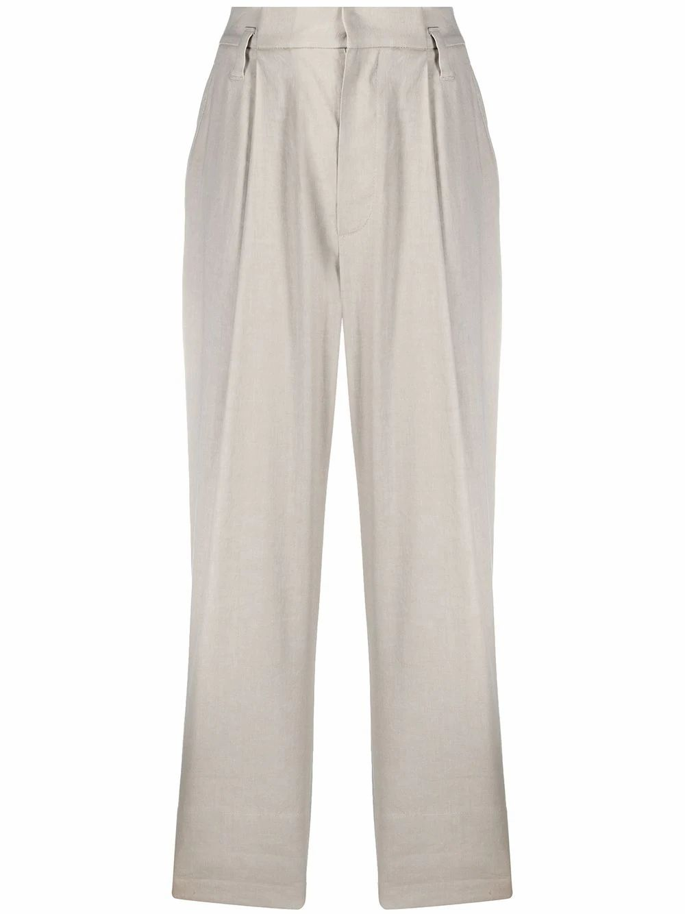 Brunello Cucinelli BRUNELLO CUCINELLI WOMEN'S MF591P7636C8575 GREY LINEN PANTS