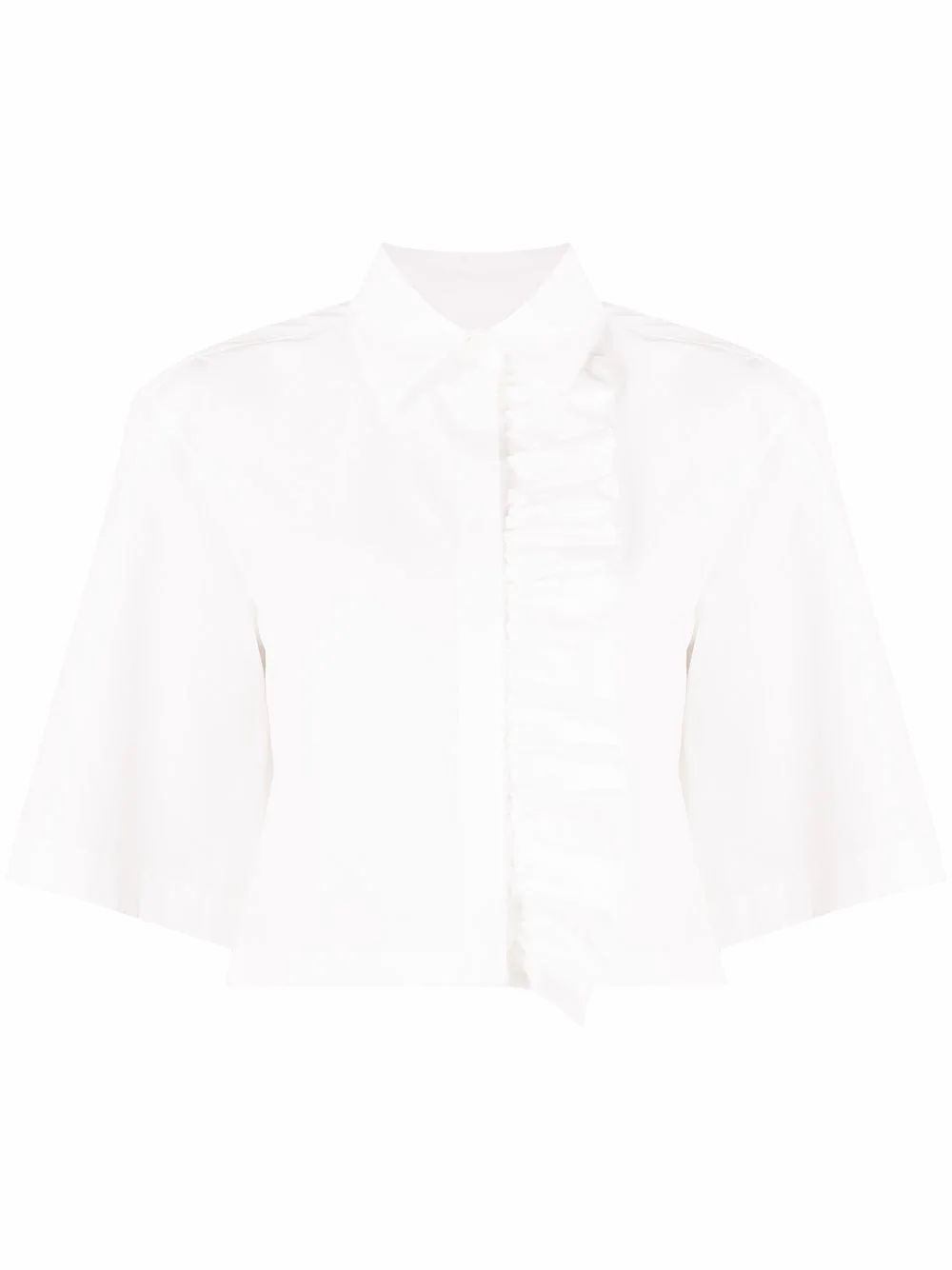 Msgm WOMEN'S 3041MDE1121710401 WHITE COTTON BLOUSE