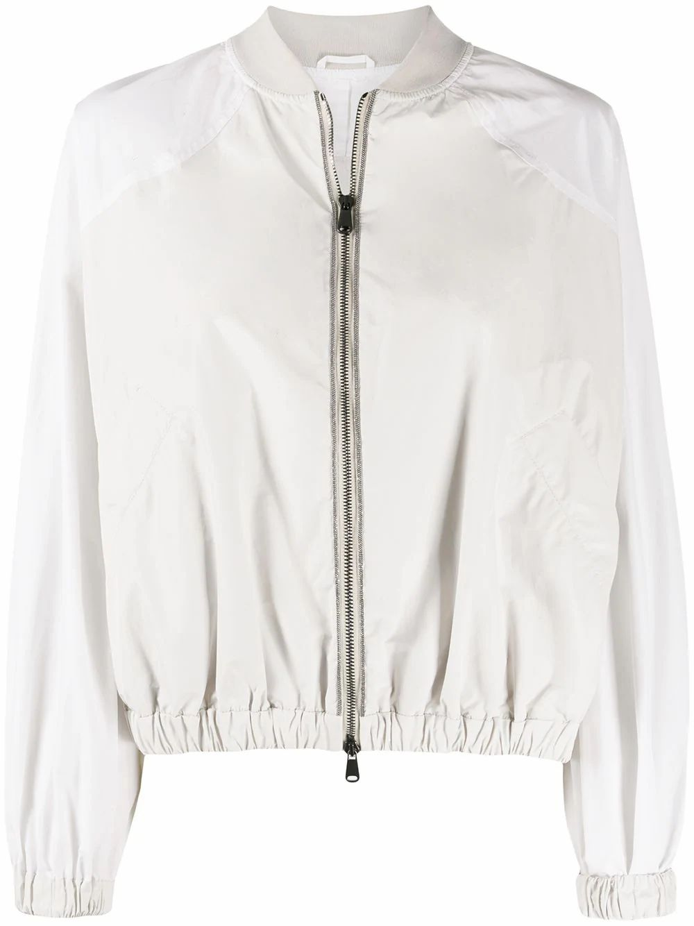 Brunello Cucinelli BRUNELLO CUCINELLI WOMEN'S MB5742530C1709 WHITE POLYESTER OUTERWEAR JACKET