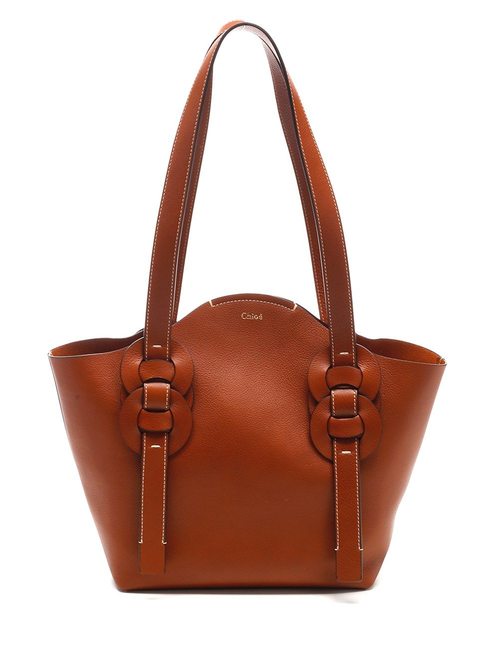 Chloé CHLO WOMEN'S CHC21SS346H5H247 BROWN OTHER MATERIALS SHOULDER BAG