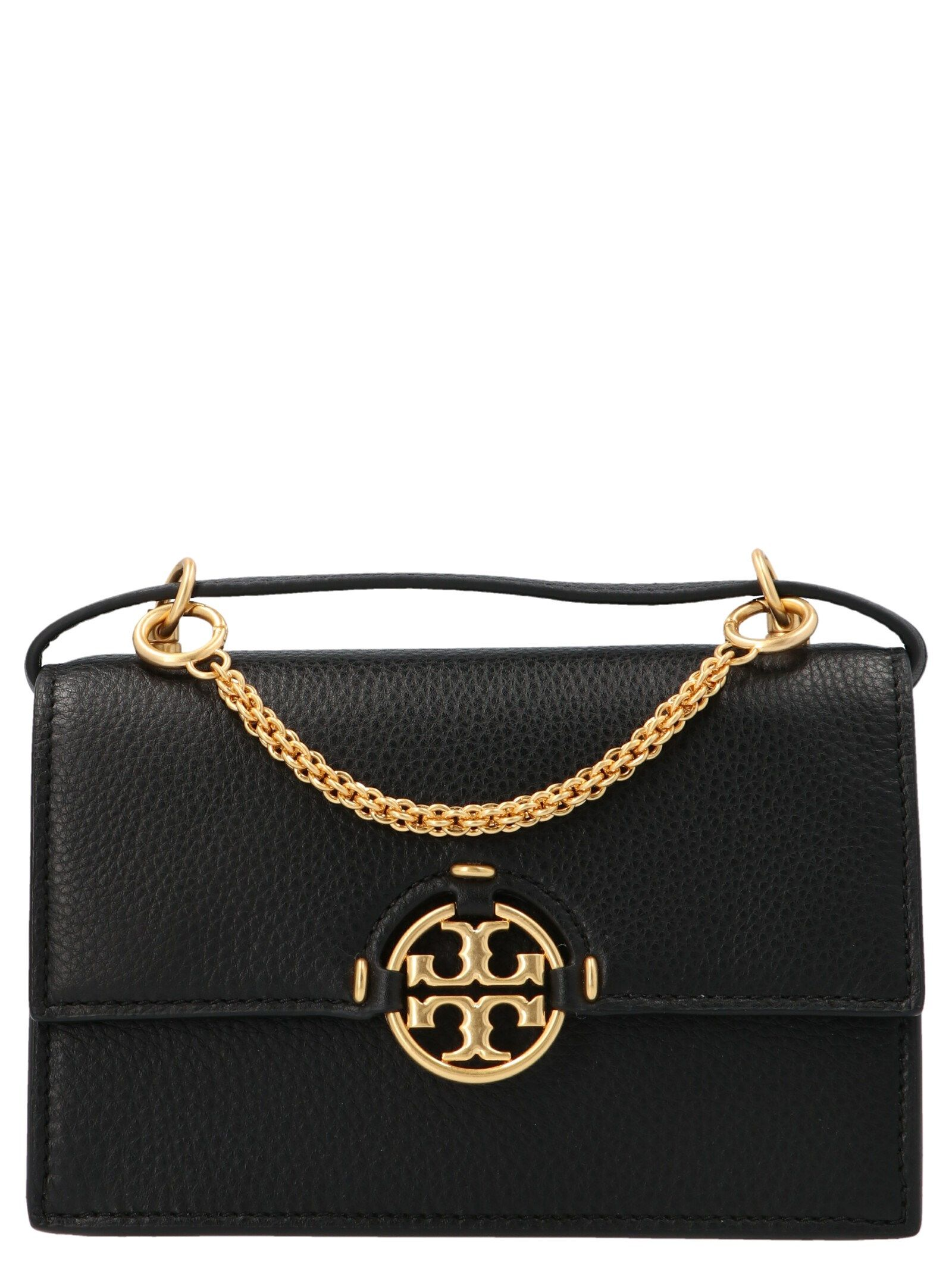 Tory Burch Leathers TORY BURCH WOMEN'S 80532001 BLACK OTHER MATERIALS SHOULDER BAG