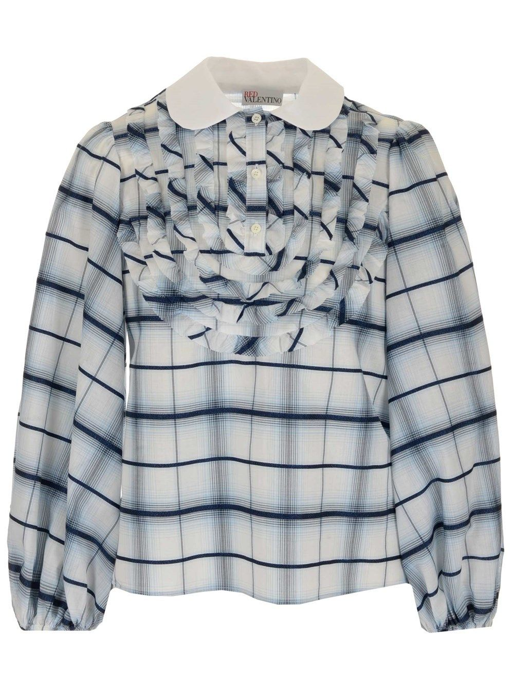 Red Valentino Blouses RED VALENTINO WOMEN'S VR3ABF105ML05Q LIGHT BLUE OTHER MATERIALS BLOUSE